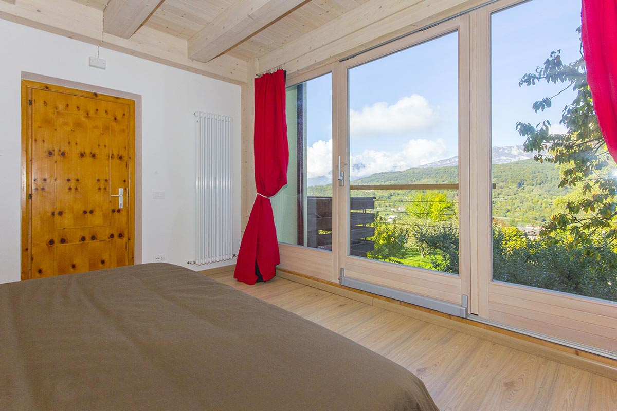 Apartments Bedroom with Dolomiti view